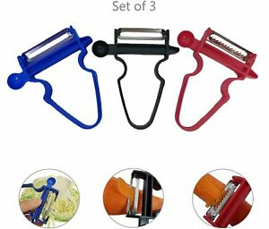 3 Pack NEW 2020 Professional Magic Trio Peeler Vegetable Fruit Potato Julienne
