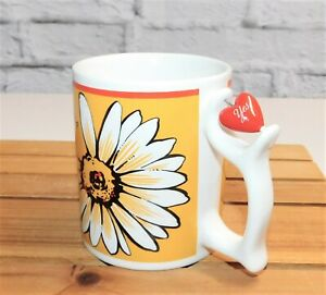 Vintage Spinners Daisy Loves Me Loves Me Not Coffee Mug Cup Depart 56 Rare