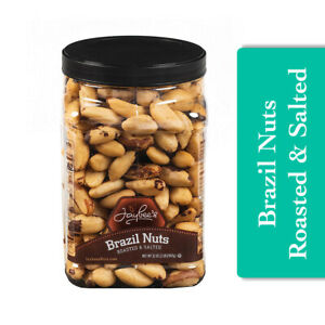 Jaybees Roasted Salted Brazil Nuts High in Protein Healthy Delicious Snack 32 oz