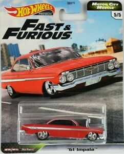 Hot Wheels Fast & Furious 61 Chevy Impala Red New 2020