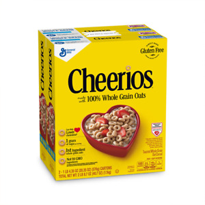 Cheerios 100% Whole Grain Gluten Free Cold Cereal 20.35 oz. 2 Pack