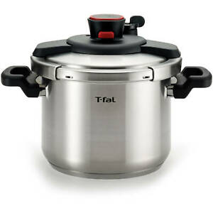T-fal Clipso Stainless Steel 6.3 Quart Pressure Cooker