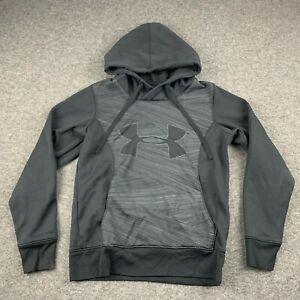 UNDER ARMOUR WOMEN SIZE SMALL SEMI FITTED COLD GEAR BLACK HOODIE SWEATSHIRT $9.74