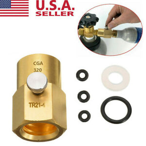 Cylinder Refill Adapter TR21 4 to CGA320 Connector US CAN Version For SodaStream