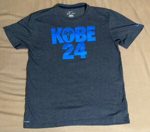 Nike Kobe 24 T Shirt Dri Fit Size Large Extremely Rare Pre Owned KB Bryant Laker $199.99