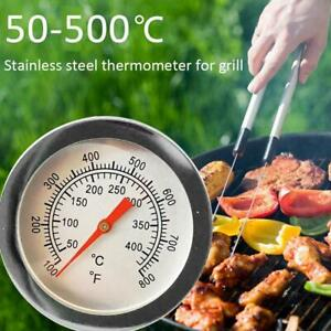 Stainless Steel Barbecue BBQ Smoker Grill Thermometer Temperature Gauge Tool