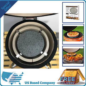 Dual Purpose Lava Cooking Circular Pizza Stone And Heat Deflector Small Outdoor