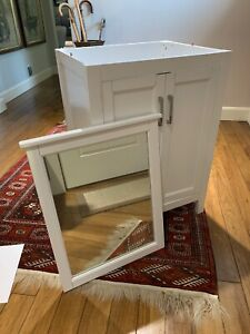 White Bathroom Vanity With Mirror (No Sink). Used for photo shoot - never used.