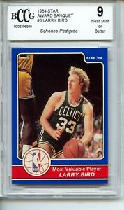 1984 Star Award Banquet #8 Larry Bird BGS BCCG 9 Boston Celtics