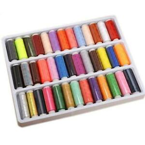 39PCS Set Assorted Colorful Polyester Sewing Thread Spools for Manual Embroidery $5.51