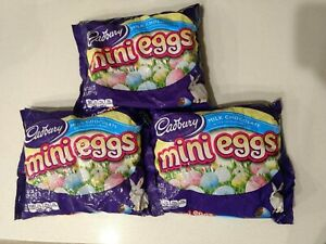 3 EXTRA LARGE Cadbury Milk Chocolate Mini Eggs Easter Candy Egg 18 oz Exp 9/2020