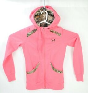 Under Armour Womens Size Small Full Zip Hoodie Camo Pink $22.49