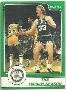 LARRY BIRD 1984 STAR COMPANY Boston Celtics BASKETBALL CARD #8