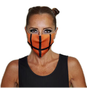 Basketball Print Face Mask! Washable, Reusable, Protects Face & Mouth, UNISEX!