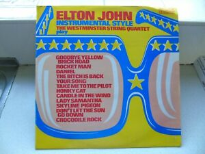 The Westminster String Quartet Plays Elton John Instrumental Style Vinyl A