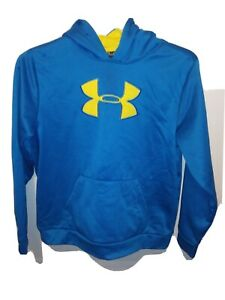 Youth Used Under Armour Storm Aqua Athletic Pullover Hoodie Size XL EUC $24.95