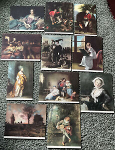 LOT ANTIQUE LITHOGRAPHS of PAINTINGS by the MASTERS NATL COMM ART APPRECIATION $75.00