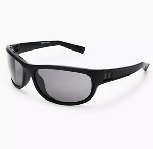 UNDER ARMOUR CAPTURE SUNGLASSES SATIN BLACK FRAME GRAY LENS IGNITER ZONE 18268 $45.99
