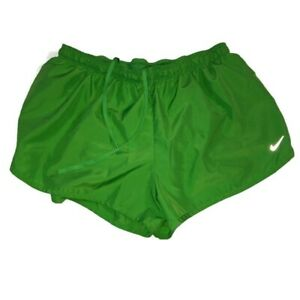 Nike Womens Ladies Road Race Athletic Activewear Running Shorts Size XL Green $11.39