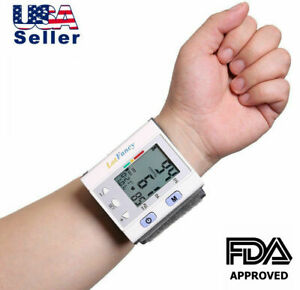 Wrist Blood Pressure Monitor BP Cuff Machine Automatic Digital Home Test Device $15.99