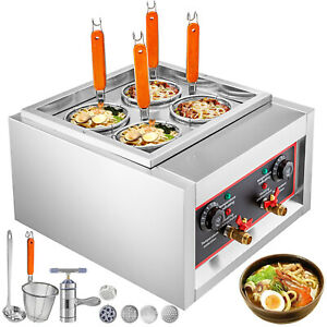 Commercial Electric Noodle Cooking Machine Pasta Cooker Noodle Boiler 4 Hole 5KW