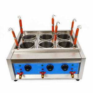 Commercial Electric Noodle Cooking Machine Pasta Cooker Noodle Boiler 6 Hole 6KW