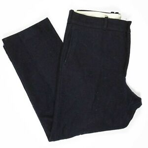 Vintage LL Bean Wool Hunting Pants 38x31 Made in USA Navy Blue Trousers