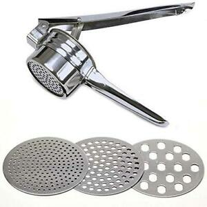 Stainless Steel Potato Ricer – Manual Masher for Potatoes, Fruits, Vegetables,