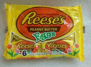 Reese's Milk Chocolate Peanut Butter Eggs 6 Pack Kid's Snack Easter