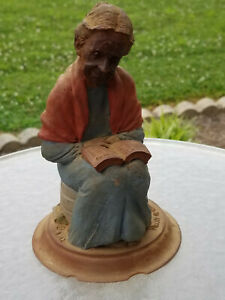 Vintage TOM CLARK Country MOLLY #1195 Woman Reads Bible Cairn Studios 1987