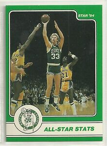 LARRY BIRD 1984 STAR COMPANY Boston Celtics BASKETBALL CARD #6