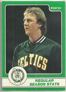 LARRY BIRD 1984 STAR COMPANY Boston Celtics BASKETBALL CARD #4