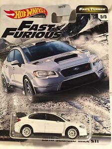 Hot Wheels Fast and Furious Subaru WRX STI. Fast Tuner.