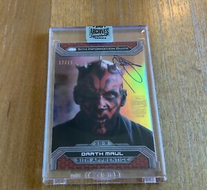 2018 Topps Star Wars Archives Signature Series Ray Park Darth Maul Auto 12 13