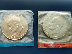 1976 PD Bicentennial Eisenhower Ike Dollar Type 1 in Mint Cello**SHIPS FREE**