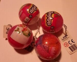 4 x SHOPKINS CHRISTMAS ORNAMENT WITH 2 PER PACK quot; ONCE YOU SHOP YOU CAN#x27;T STOPquot;