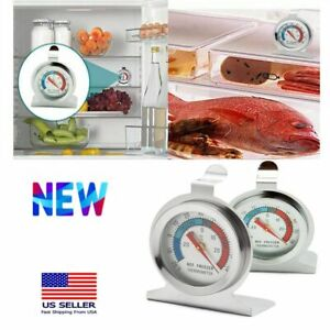1-2X Home Stainless Steel Temperature Refrigerator Freezer Dial Type Thermometer