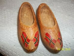 Norway Norwegian Small Wooden Shoes