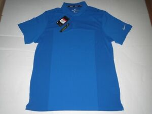 Men's Nike Dri Fit Zonal Cooling Golf Polo Shirt Blue Large MSRP $75.00 **NEW** $39.95