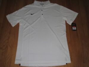 Men's Nike Dri Fit Golf Polo Shirt White Large MSRP $75.00 **NEW** $39.95