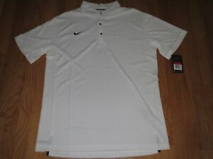 Men's Nike Dri Fit Golf Polo Shirt White Size Medium MSRP $75.00 **NEW** $37.95