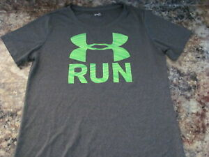 Women's Sm Under Armour Semi Fitted Athletic Running Shirt Gray $8.00
