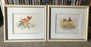 Walt Disney BAMBI LE Framed Signed Lithographs Frank Thomas amp; Ollie Johnston $1800.00
