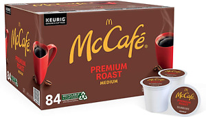 McCafe Premium Roast Medium Keurig K Cups Coffee Pods 84 Count