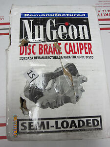 Disc Brake Caliper Semi Loaded Caliper Sold Exchange Front Right NUGEON Reman $25.59
