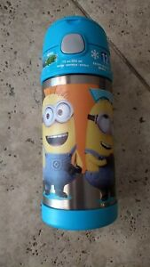 Thermos Funtainer 12 Ounce Bottle, Minions New - LIGHT BLUE -MOST POPULAR BOTTLE