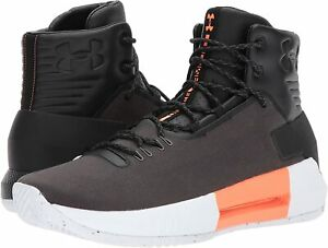 Under Armour Men's Drive 4 Premium Basketball Shoes Black Orange Size 11.0M $55.99