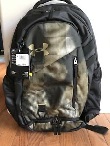NWT Under Armour UA Hustle 4.0 Backpack Khaki Green Camo Bag Laptop School $44.99