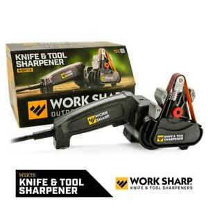 Electric Knife and Tool Sharpener Sharpening Flexible Belt Corded Compact KIT