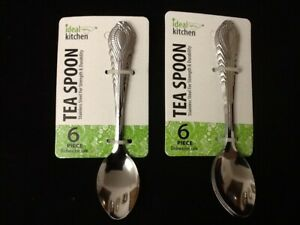 Set of 12 TEA Spoons Coffee Tea Spoon Stainless Steel Small Dozen 5 inch Gift